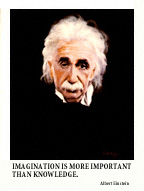 Albert Einstein Fine Art Global PathMarker Note Card