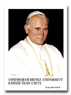 Pope John Paul II, portrait by Frank Szasz