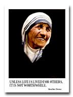 Mother Teresa, portrait by Frank Szasz